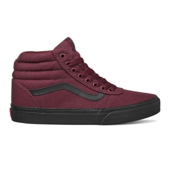 Vans Shoes | Vans Maroon High Tops